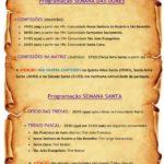 Programação Semana das Dores e Semana Santa