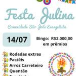 Festa julina da comunidade São João Evangelista