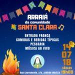 Festa julina comunidade Santa Clara