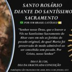 SANTO ROSÁRIO DIANTE DO SANTÍSSIMO SACRAMENTO