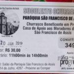 CONVITE: Churrasco Casa de Apoio aos Moradores de Rua São Francisco de Assis