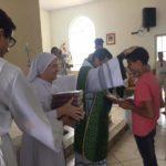 ACONTECEU: Entrega da bíblia e dízimo mirim