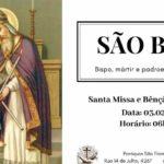 Santa missa e benção da garganta