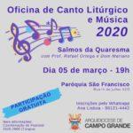 Curso de canto litúrgico e e música - Salmos da Quaresma