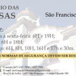 NOVOS HORÁRIOS DE MISSA DURANTE O COVID-19